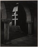 Stanford University, Inner Quadrangle, vicinity of chapel, Santa Clara County, California