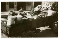 Truck bed containing supplies, Los Angeles