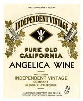 Independent Vintage pure old California Angelica wine, Independent Vintage Company, Glendale