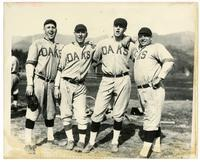 Harry Krause, Joe Boehling, Buzz Arlett and Hank Miller of the 1921 Oakland Oaks