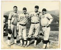 Harry Krause, Joe Boehling, Buzz Arlett and Hank Miller of the 1921 Oakland Oaks