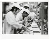 Workers at a Lucky meat processing plant, San Francisco, March 27, 1973