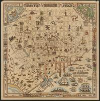 Map of old San Francisco circa 1854