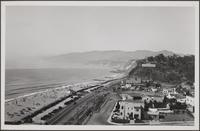 Mouth of Santa Monica Canyon, looking northwest
