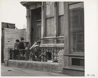 Newspaper delivery boy and friends, San Francisco