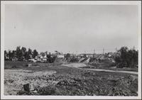 Shacks (residences) in Inglewood, looking northeast from Redondo Boulevard and Fir Avenue