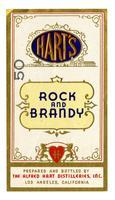 Hart's rock and brandy, The Alfred Hart Distilleries, Los Angeles