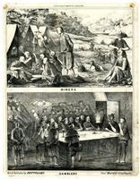 Celestial empire in California. Miners [upper] Gamblers [lower]