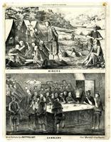 Celestial empire in California. Miners [upper] Gamblers [lower]