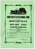 United States mail line from Downieville to Nevada City, Camptonville and Marysville : W. Green & Co, proprietors.
