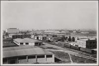 Looking west from roof of central manufacturing district (Vernon)