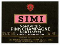 Simi California pink Champagne, Simi Wineries, Healdsburg