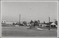 Looking east from Prosser Street and Louisiana Avenue, Westwood Hills; in distant background is oil rig, Fox Studio and two funnels from oceanliner Bremen