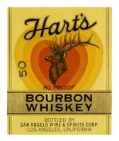 Hart's bourbon whiskey, San Angelo Wine & Spirits Corp., Los Angeles