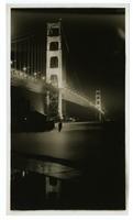 Golden Gate Bridge, at night after completion