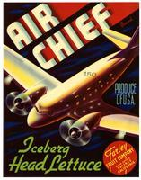 Air Chief Brand iceberg head lettuce, Farley Fruit Company, Salinas