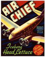 Air Chief Brand iceberg head lettuce, Farley Fruit Company, Salinas