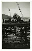 Golden Gate Bridge construction, truck with concrete mix
