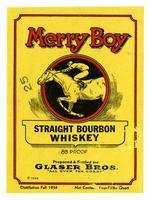 Merry Boy straight bourbon whiskey, Glaser Bros.