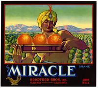 Miracle Brand oranges, Bradford Bros. Inc., Placentia