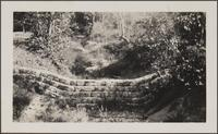 Stone wall (Haines Canyon?)