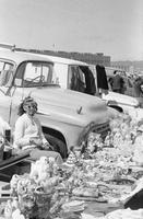 Sunglass lady at flea market