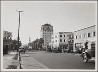 Sunset Boulevard, looking west from Cole Place, Hollywood