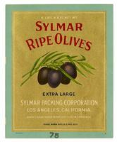 Sylmar ripe olives, Sylmar Packing Corporation, Los Angeles