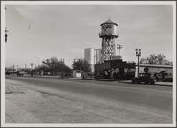 Walnut Park water tanks, looking southeast on Florence Avenue from Santa Fe Avenue
