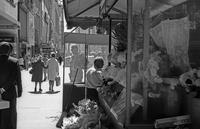 Flower stall near Kress Store on Market Street