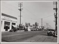 Looking east on Santa Monica Boulevard from Formosa Avenue and Santa Monica Boulevard, Hollywood
