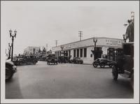 Beverly Hills, looking down Santa Monica Boulevard from Beverly Drive toward southwest