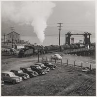 Train loading barge, Tiburon, Marin County, California