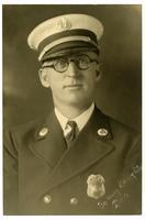 Portrait of fire captain R.E. Dunn, Los Angeles Fire Department