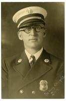 Portrait of fire captain R.E. Dunn, Los Angeles Fire Department