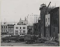 Stockton and Pacific Streets, removal of buildings for housing project, Chinatown, San Francisco