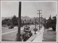Looking north on La Brea Avenue from Sunset Boulevard
