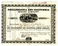 Philadelphia and California Mining Company stock certificate no. 318 : Philadelphia, 1852 April 7.
