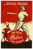Official program, San Diego Padres, 1945 season