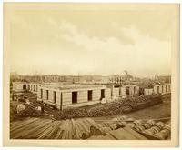 Progress of construction, U.S. Mint [one-story], N.W. corner of 5th & Mission, San Francisco