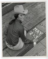 Linda Medares, 48th annual Hayward rodeo hostess. Alameda County, California
