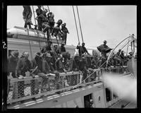 Troops aboard ship, San Francisco Bay