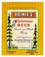 Heinie's Christmas beer, Hillsboro Brewing Co., Hillsboro, Wisc.