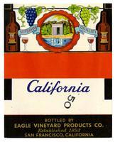 Blank California wine label, Eagle Vineyard Products Co., San Francisco