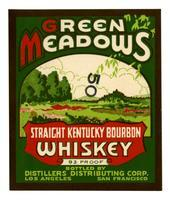 Green Meadows straight Kentucky bourbon whiskey, Distillers Distributing Corp., Los Angeles and San Francisco