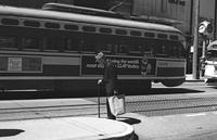 Man with cane on Market Street