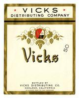 Vicks brand, Vicks Distributing Co., Oakland