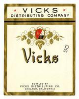 Vicks brand, Vicks Distributing Co., Oakland