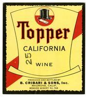 Topper California wine, B. Cribari & Sons, Inc., Madrone