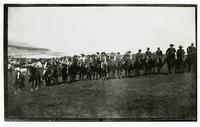 Group portrait of men on horseback, Rancho Santa Anita